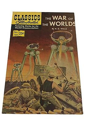 Classics Illustrated The War Of The Worlds H.G. Wells No. 124 1955 Summer 1970
