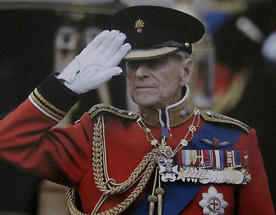 Prince Philip Attending the Trooping the Colour 2012 Post Card