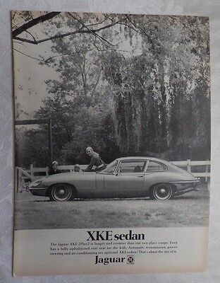 1969 Jaguar XKE 2 plus 2 Magazine Advertisement