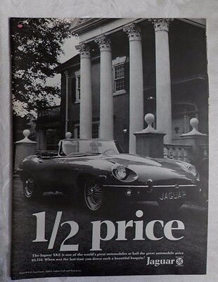 1969 Jaguar XKE Convertible Magazine Advertisement