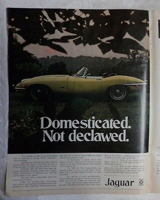 1970 Jaguar XKE Convertible 4.2 litre Magazine Advertisement