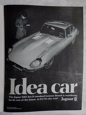 1968 Jaguar XKE Coupe' Magazine Advertisement
