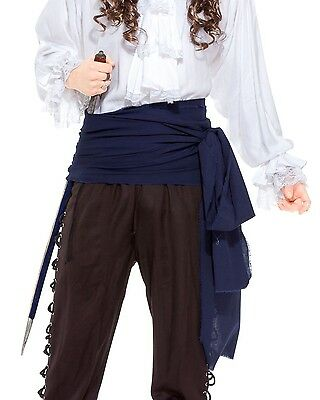 12ft Long Large Linen Pirate Swashbuckling Sash Belt Halloween Costume Accessory