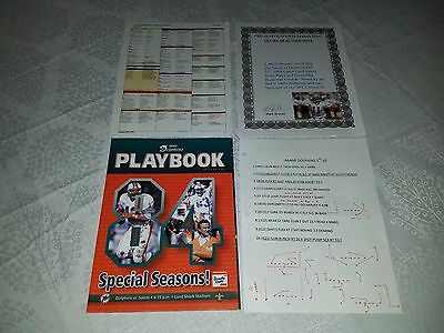 Mark Brunell Saints Dolphins Marino GAME USED PLAYERS PLAYBOOK NOTES 10-25-2009