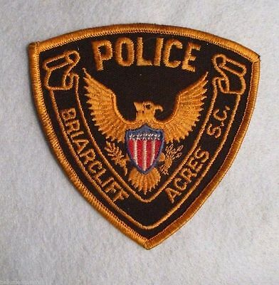 """Briarcliff Acres Police Patch - South Carolina - 4"""" x 4"""""""