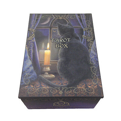 Midnight Vigil Tarot Box Black Cat Tarot Box Trinket Box Jewelry Box