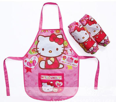 Hello Kitty Waterproof Kids Paint Apron Smock with Sleeve Art craft Cooking