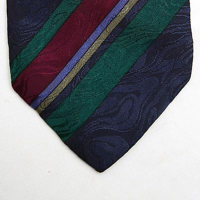 YSL Yves Saint Laurent Striped Multi colour Vintage 70s Tie Silk Made in Italy