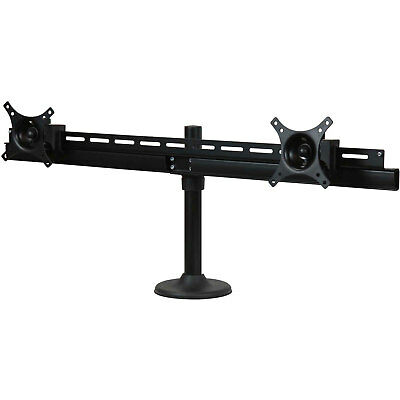 """Dual TV/LED/Monitor Grommet Desk Mount - Supports 2 x 14-30"""" & 19.8lbs, Lot of 1"""
