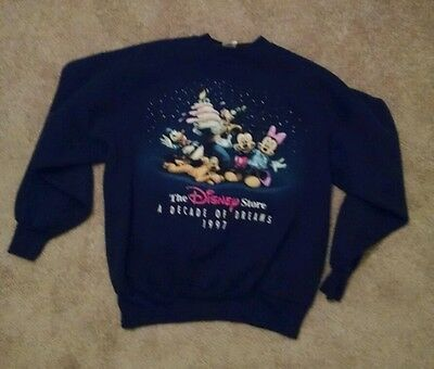 Vintage Adult L/XL 1997 Walt Disney World A Decade of Dreams Sweatshirt