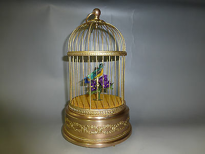 ANTIQUE FRENCH BONTEMS SINGING BIRD CAGE BIRD AUTOMATON MUSIC BOX (Watch Videos)