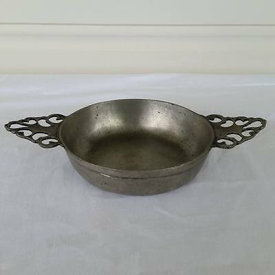 Rein Zinn Pewter Porringer Bowl With Handles Quaich Made in Germany
