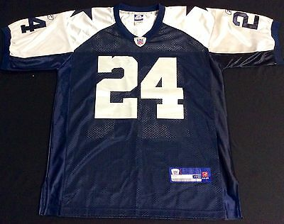 new arrival 11ade 4037a reebok dallas cowboys marion barber 24 blue authentic jersey ...