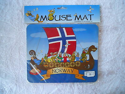 """Norway Mouse Mat/pad, Vikings,   New In Plastic  8.5"""" X 7"""""""