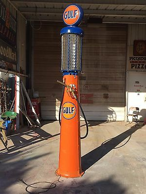 Vintage GULF Visible Gravity Flow 10 Gal Butler Model 30 Gas Pump PRICE REDUCED!