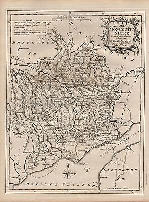 1770 Ca ANTIQUE MAP KITCHIN -   MONMOUTHSHIRE