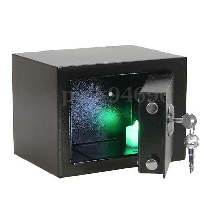 Strong Iron Steel Key Operated Security Money Cash Safe Box Home Office AU STOCK