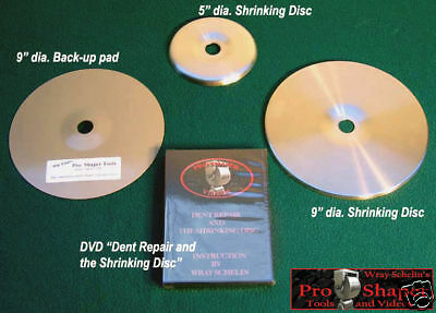 SHRINKING DISC COMBO: use with English wheel planishing hammer, metalshaping