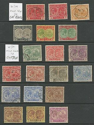 St Kitts Nevis 1920-29 Sv Fine Used Selection Of 19 To 10/- Fine Used Cat £134+