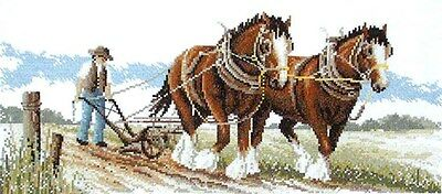 Clydesdales - Counted Cross Stitch Chart from Country Threads