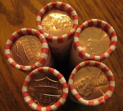 2017 P Lincoln Cent Pennies - First P Mintmark - 5 Roll Lot. stunning