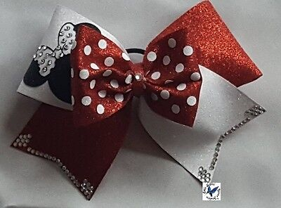 CheerBow,Cheerschleife,Cheerleading ,Strass ,Mini, MiniMouse, Sommer - Special