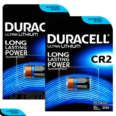 2 x Duracell Ultra Lithium CR2 batteries 3V CR17355 EL1CR2 Pack of 1