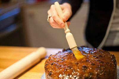 Apolo Set Of2 Wooden Pastry Brush Baking Basting,dust,glazin Cookin Bristle Flou