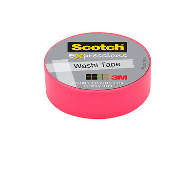 18 cintas Scotch Washi tape rosa 15mmx10m UU003015383