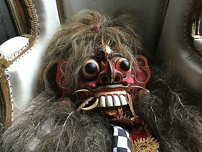Rare Mythological Rangda Demon Queen Mask (Red) - Dance Theatre Bali