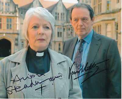 Kevin Whately and Alison Steadman SIGNED photo - J893 - Lewis