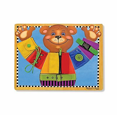 Melissa and Doug Wooden Basic Skills Board - New