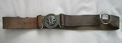 Vintage Be Prepared Boy Scout Clasp Belt & Buckle Boy Scouts Scouting