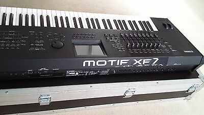 Yamaha Motif XF7 Keyboard Synthesizer  +   Flight Case