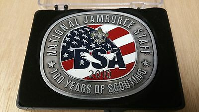 2010 National Scout Jamboree Staff Belt Buckle - 100 Year Anniversary