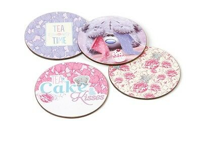 Me to You Tatty Teddy Set of 4 Bear Coasters. Round Design. Gift, Mothers day