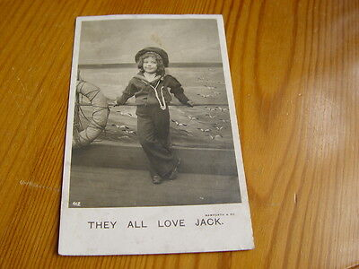 POP050 - Bamforth & Co Postcard They All Love Jack - Boy in a Sailor Outfit 1910