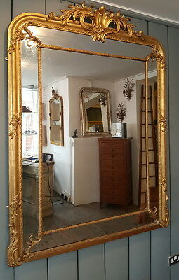 Ornate Large Antique Gilded Mirror French C1860