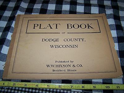 Old 1910-20 DODGE County Wisconsin Plat Book Advertising Beaver Dam Hustisford