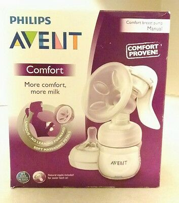 New in box Philips AVENT Comfort Manual breast pump SCF 330/20 FREE Shipping!!