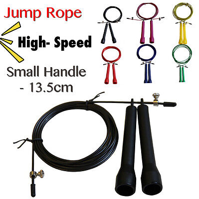 Jump Skip Rope Crossfit Speed Cable Wire Adjustable Length Cardio Gym Exercise