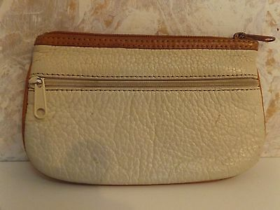 Vintage Pebble Grain Leather Zip Coin Purse