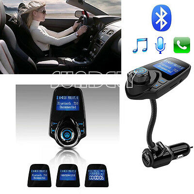 FM Transmitter Bluetooth 3.0 Car Kit USB Charger Streaming Music From Phones F10