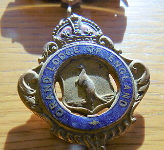 VINTAGE Medal - Royal Antediluvian Order of Buffaloes Grand Lodge of England