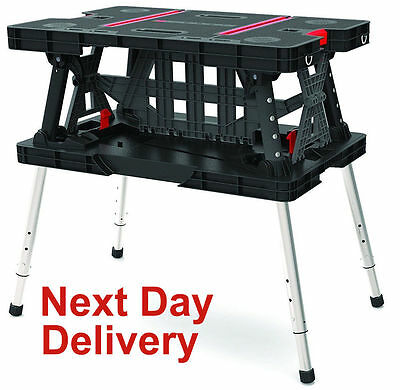 Keter Master Pro Portable Folding Work Table Bench Collapasable Holds 315Kg