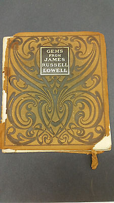 Antique Collectible 1904 Gems From James Russell Lowell DeWolfe Fiske & Co