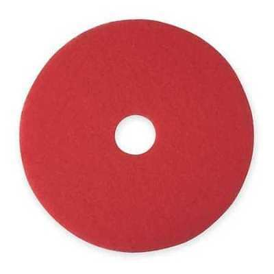 """19"""" Red Spray Buffing Floor Pad, Case of 5"""