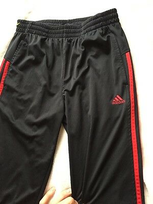 Adidas Black and Red Stripe Athletic Climate Jogging Pants Youth Large 14-16