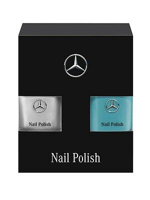 Genuine Mercedes-Benz Set Of 2 F1 Nail Vanish  Petronas Green/Silver B67996159
