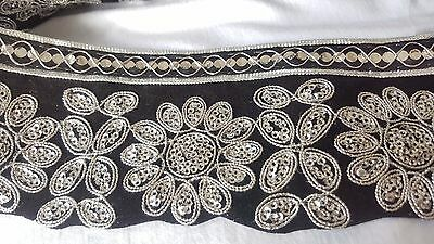 8cm- 1 meter Beautiful Black and silver sequins lace trimming edging for crafts
